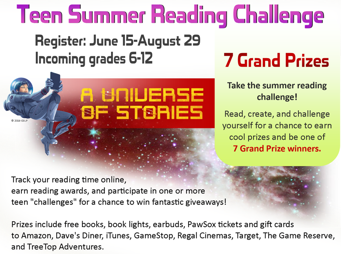A Universe of Stories - Summer Reading Copyright CSLP logo image